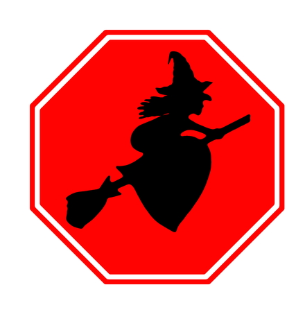 awfully: Halloween sign and icon Stock Photo