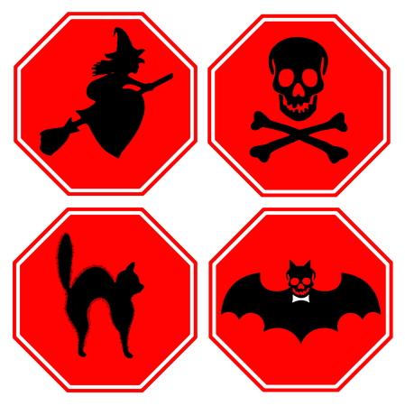 Halloween sign and icon collection photo