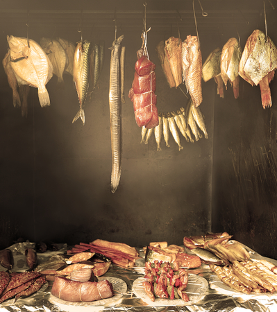 preserving: Marine fish from smokehouse is the best source of omega 3 and healthy life