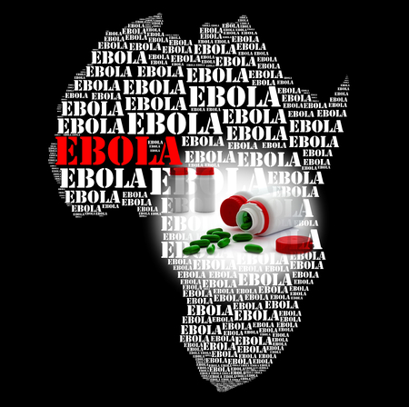 hemorrhage: Ebola virosi africana e della peste emorragia Archivio Fotografico