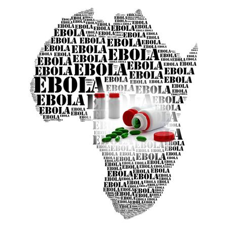 hemorragia: Enfermedad del virus del Ebola y la fiebre africana hemorragia Foto de archivo