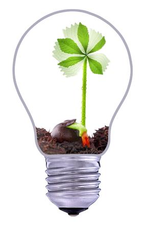 wind power plant: Green wind power plant, sustainable development Stock Photo