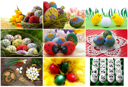 manually: Easter eggs collection, spring and tradition