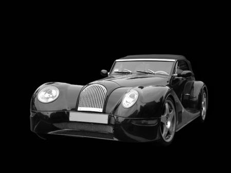 sportscar: exclusive retro sportscar Stock Photo