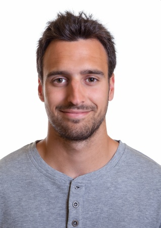 spanish looking: Portrait of a latin man