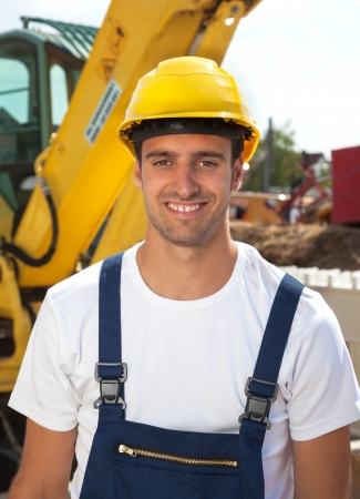 loves: Handsome worker loves his job Stock Photo
