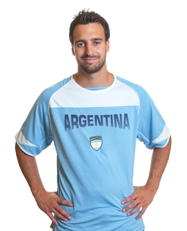 kick off: Argentinian soccer fan is ready for kick off