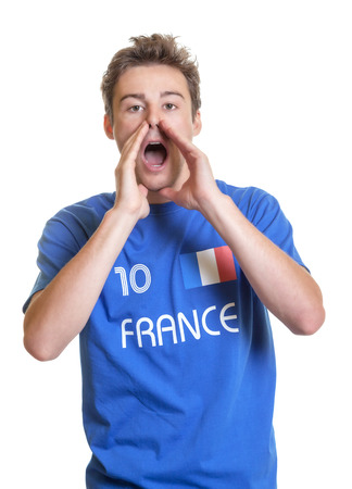 Shouting french soccer fan photo