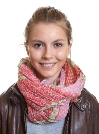 Portret van een jonge vrouw met blond haar Stockfoto