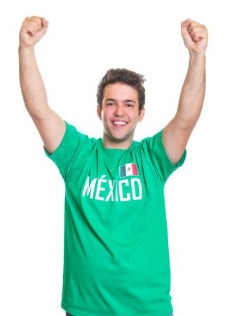 freak out: Cheering mexican sports fan