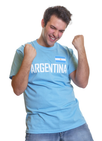 Argentinian soccer fan freaking out  photo