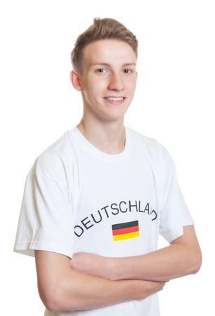 German sports fan with crossed arms photo