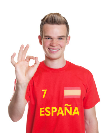 Satisfied spanish sportsman with blond hair