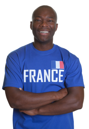 French sports fan with crossed arms  photo