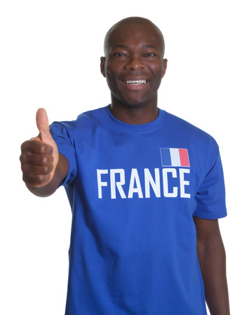 French sports fan showing thumb up  photo