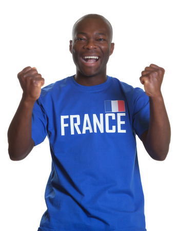 Cheering french sports fan photo