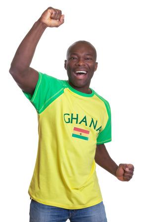 Happy sports fan from Ghana Stock Photo