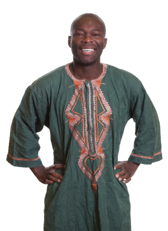 garb: Standing african man with traditional clothes