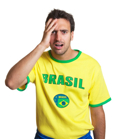 Shocked brazilian soccer fan photo