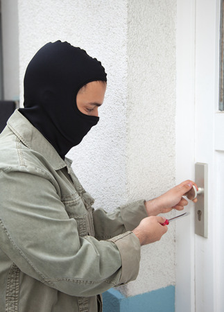 Burglar at a private home photo
