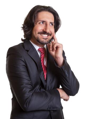 Thinking turkish businessman  photo