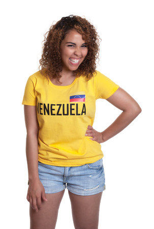 Standing young woman from Venezuela  photo