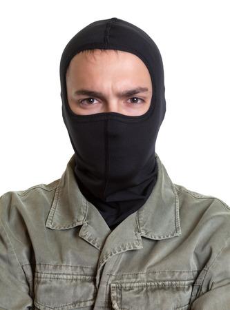 Portrait of a masked burglar  Stock Photo
