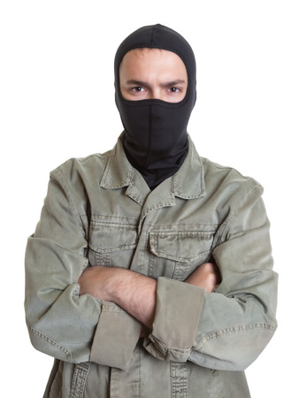 prowler: Masked burglar with crossed arms