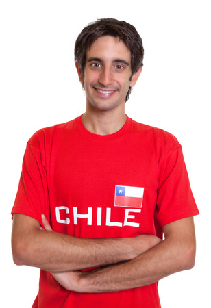 Standing fan from Chile with crossed arms photo