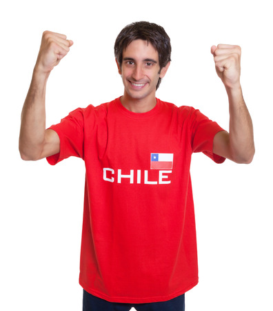 Cheering fan from Chile photo