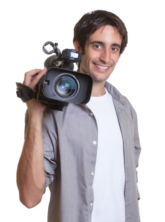 Laughing cameraman photo