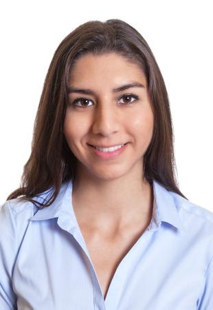 foto carnet: Retrato de una empresaria mexicana Foto de archivo