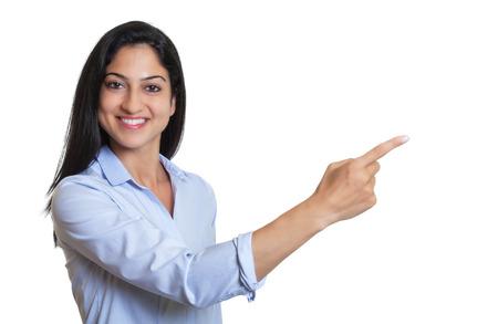 Zeige türkische Geschäftsfrau Standard-Bild - 32360425