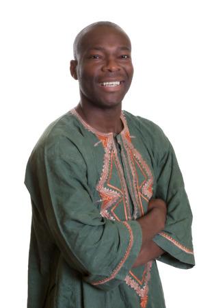 Slimme Afrikaanse man met traditionele kleding