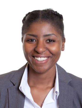 passeport: Passeport image d'une femme d'affaires de rire africain