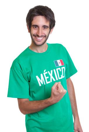 freak out: Happy mexican sports fan with beard
