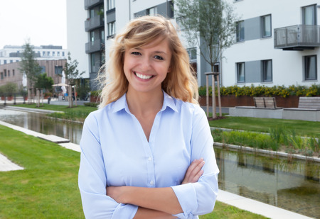 residential area: Attractive woman in a residential area