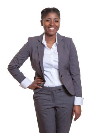 latina america: Happy businesswoman from Africa