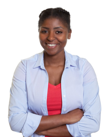 latina america: Young african woman with crossed arms