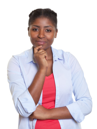 Attractive african woman looking at camera