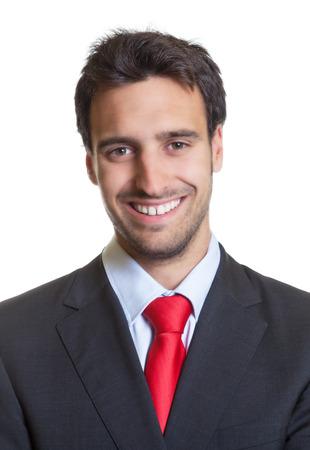 Paspoort foto van een Spaanse zakenman met kostuum Stockfoto - 40687151