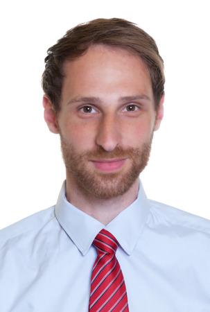 Portret van een Duitse zakenman met baard