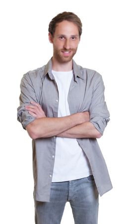 cool guy: Cool German guy with crossed arms