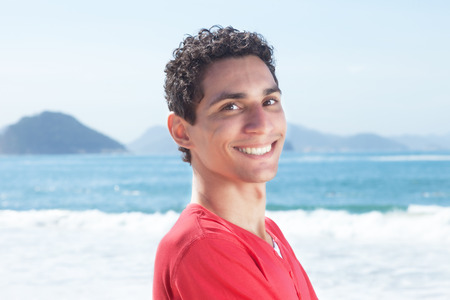argentinian: Attractive argentinian guy at beach