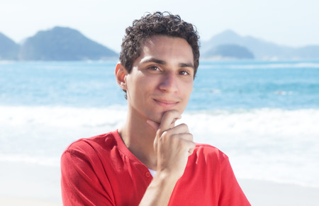 cool guy: Cool argentinian guy at beach
