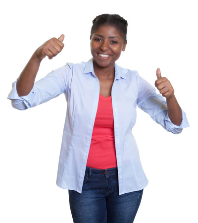 successful student: Dancing african woman Stock Photo