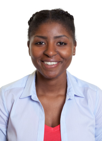 Passport picture of a young african woman