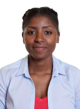 Pasfoto van een moderne Afrikaanse vrouw Stockfoto - 44371664