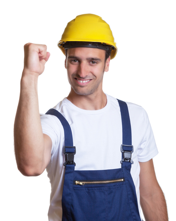 construction worker: Successful latin construction worker