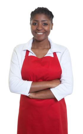 salesgirl: Laughing african american waitress